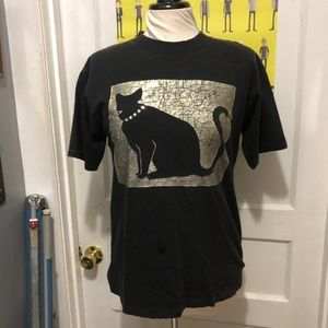 Vintage Novelty Cat Silhouette T-Shirt